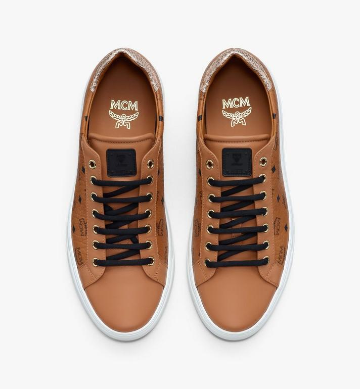 MCM Women's Low-Top Sneakers in Visetos Cognac MESASMM14CO040 Alternate View 5