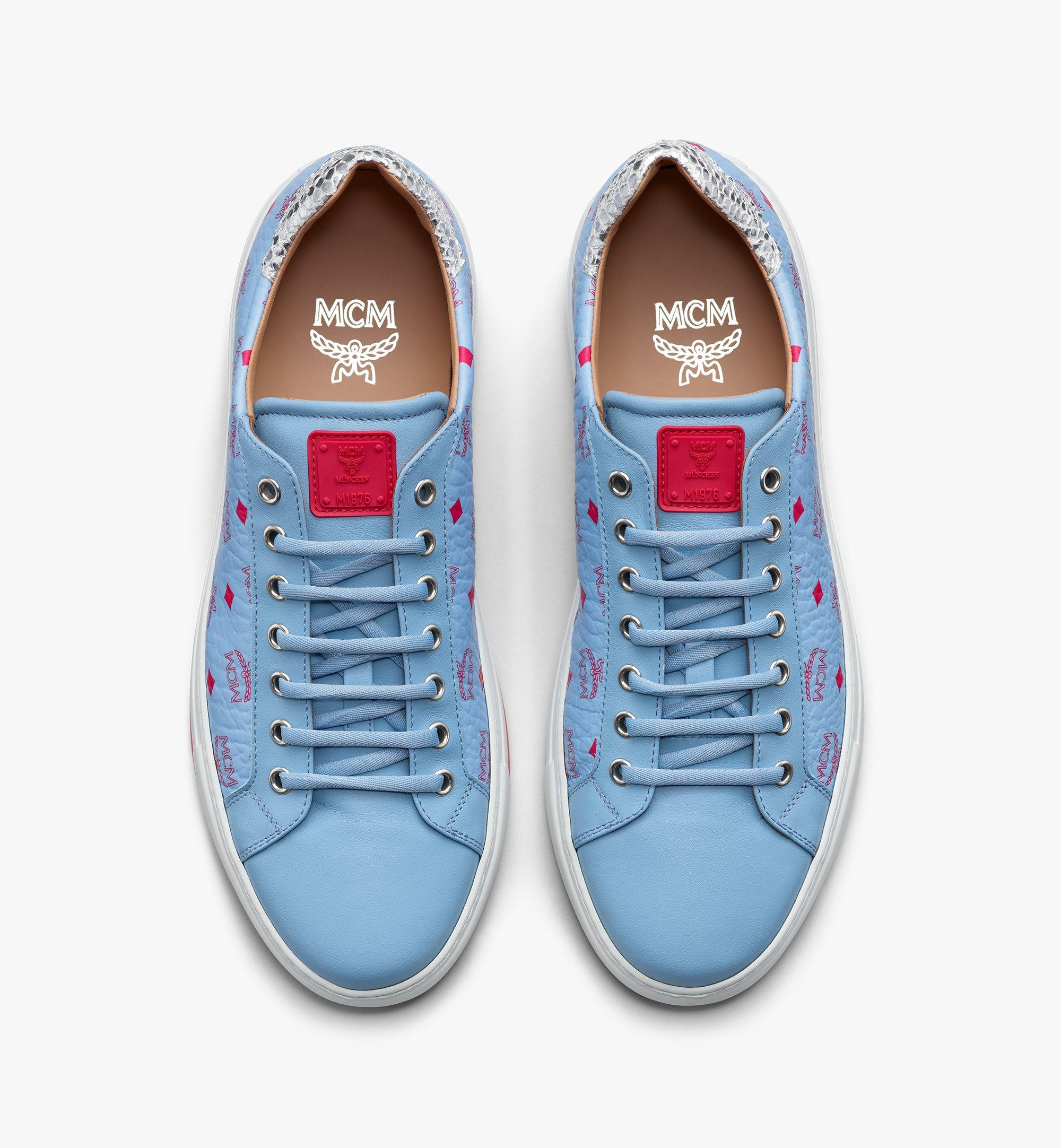MCM Women's Low-Top Sneakers in Visetos White MESASMM14H2036 Alternate View 5