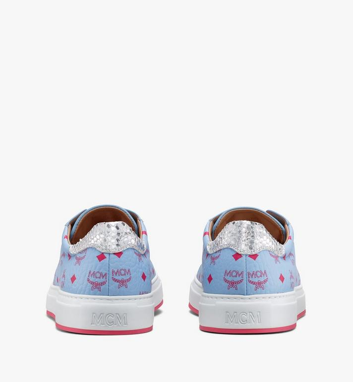 MCM Women's Low-Top Sneakers in Visetos White MESASMM14H2039 Alternate View 3