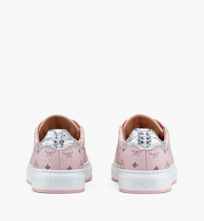 MCM Women's Low-Top Sneakers in Visetos White MESASMM14QH040 Alternate View 3