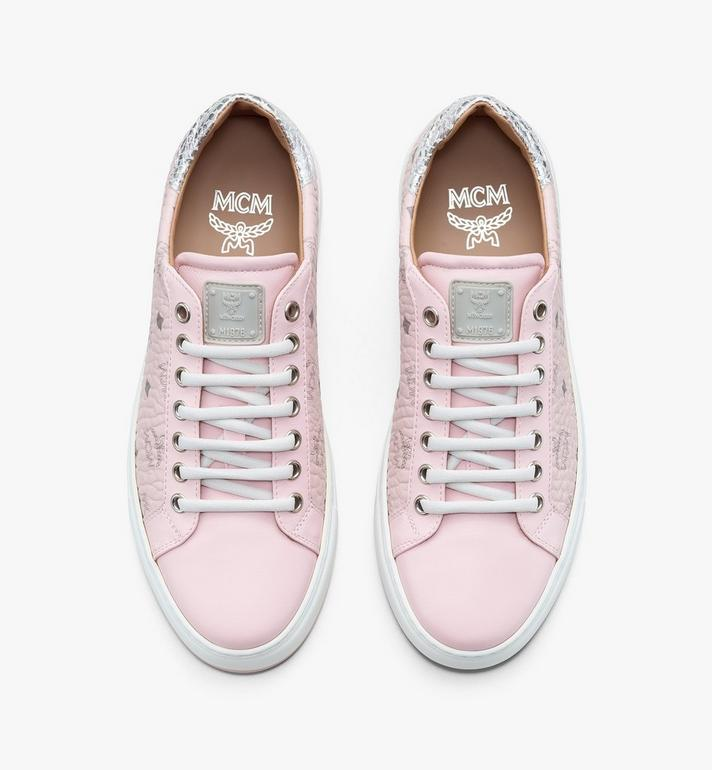 MCM Women's Low-Top Sneakers in Visetos White MESASMM14QH040 Alternate View 5
