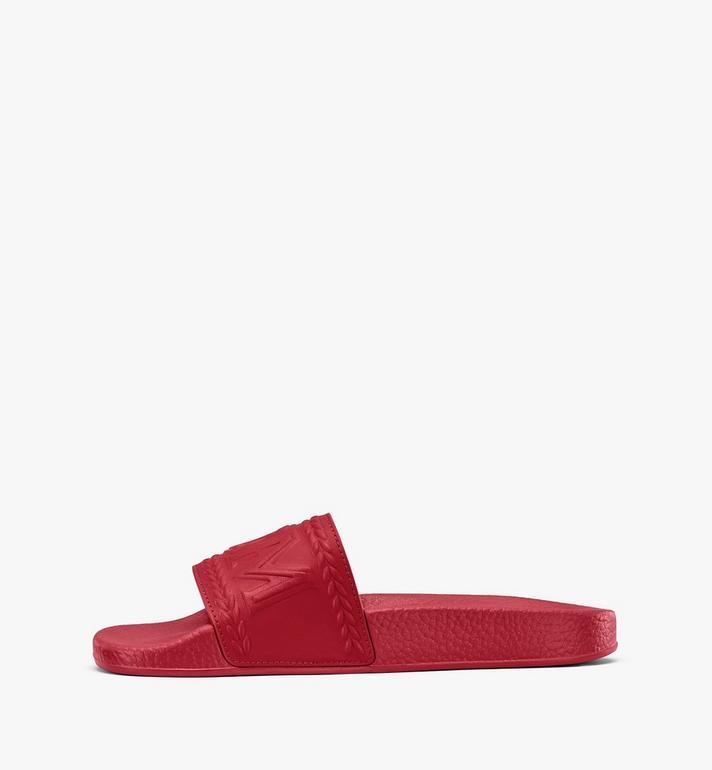 MCM Claquettes Big Logo pour femme Red MESASMM24R4035 Alternate View 4
