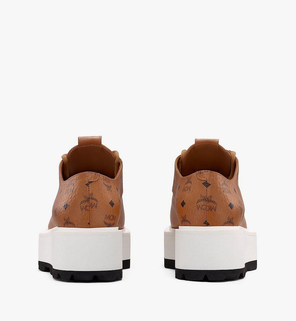 MCM Women's Platform Shoes in Visetos Cognac MESASMM30CO035 Alternate View 2