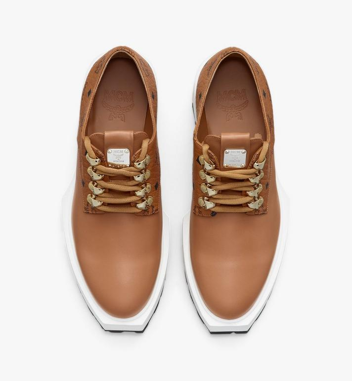 MCM Women's Platform Shoes in Visetos Cognac MESASMM30CO035 Alternate View 5