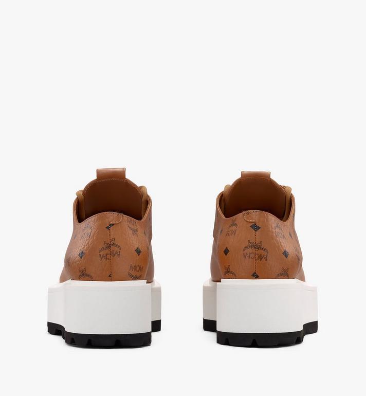 MCM Women's Platform Shoes in Visetos Cognac MESASMM30CO037 Alternate View 3