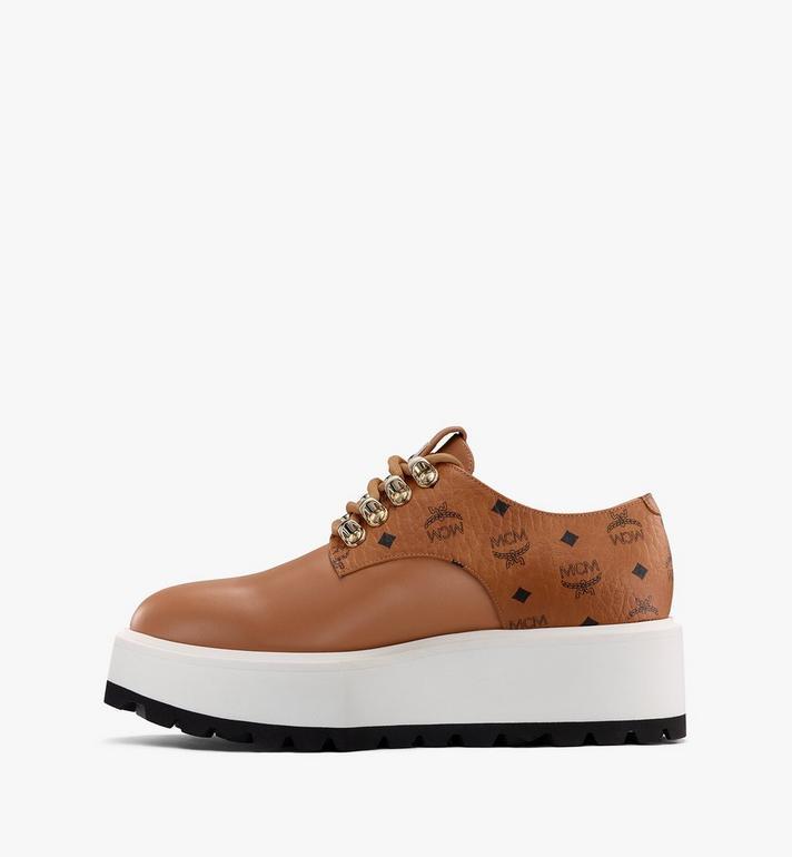 MCM Women's Platform Shoes in Visetos Cognac MESASMM30CO040 Alternate View 4