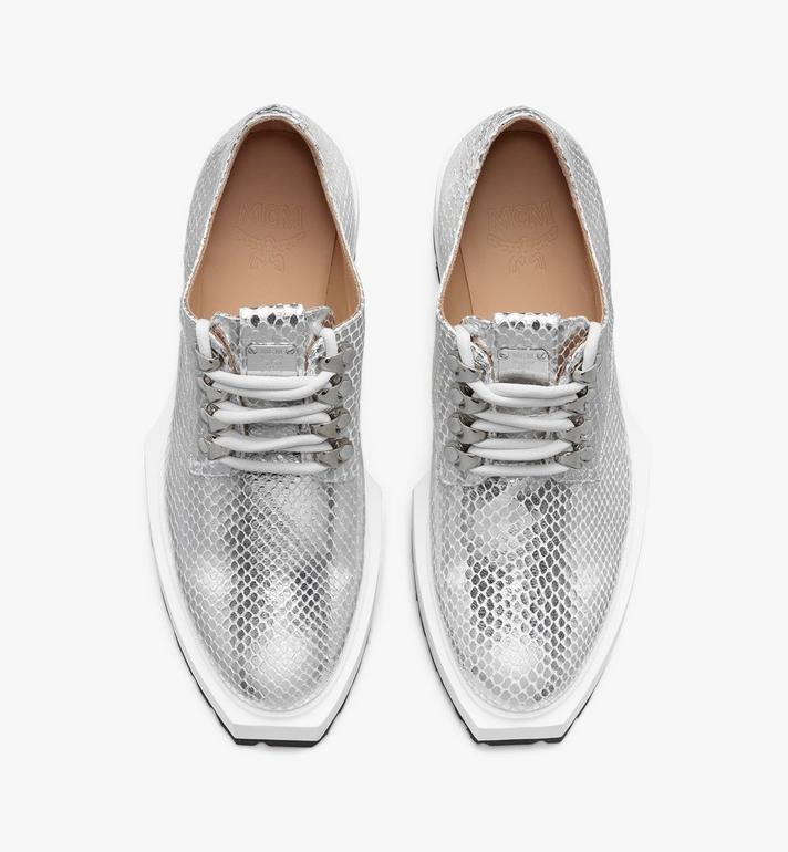 MCM Women's Platform Shoes in Disco Silver Leather  MESASMM31SE036 Alternate View 5
