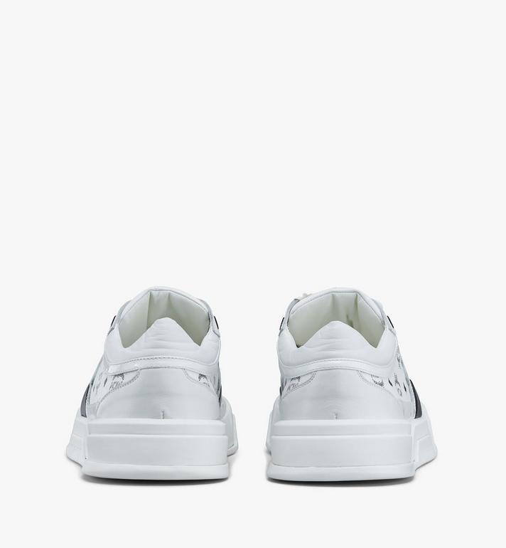 MCM Women's Skyward Low-Top Sneakers in Visetos White MESASMM44WT036 Alternate View 3