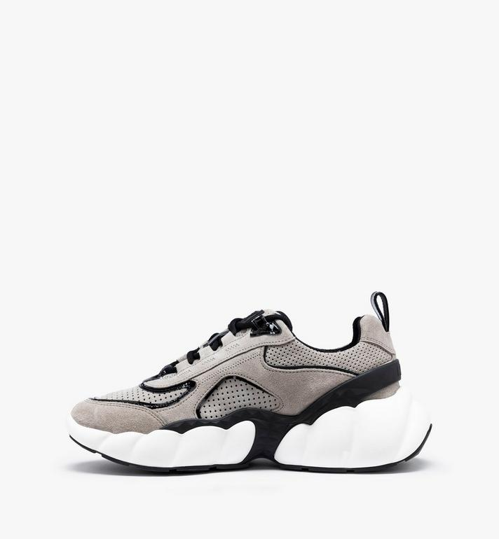 MCM Women's Himmel Low-Top Sneakers Grey MESASNX03FJ037 Alternate View 4