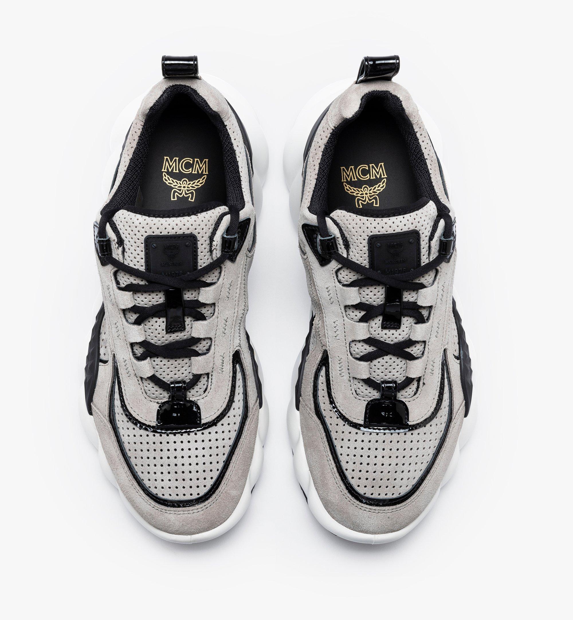 MCM Women's Himmel Low-Top Sneakers Grey MESASNX03FJ039 Alternate View 5