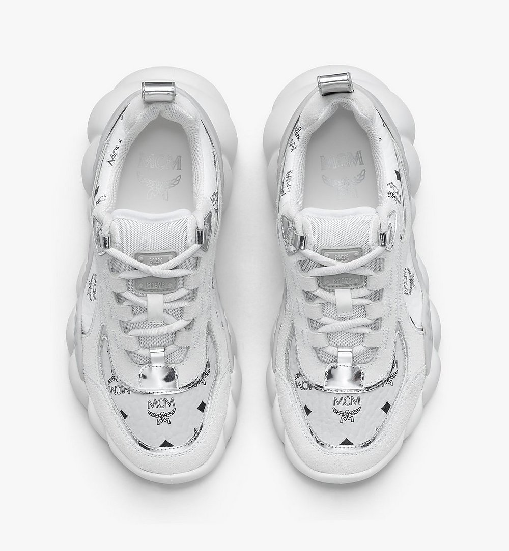 MCM Visetos 女裝 Himmel 低筒運動鞋 White MESASNX05WT037 更多視圖 4