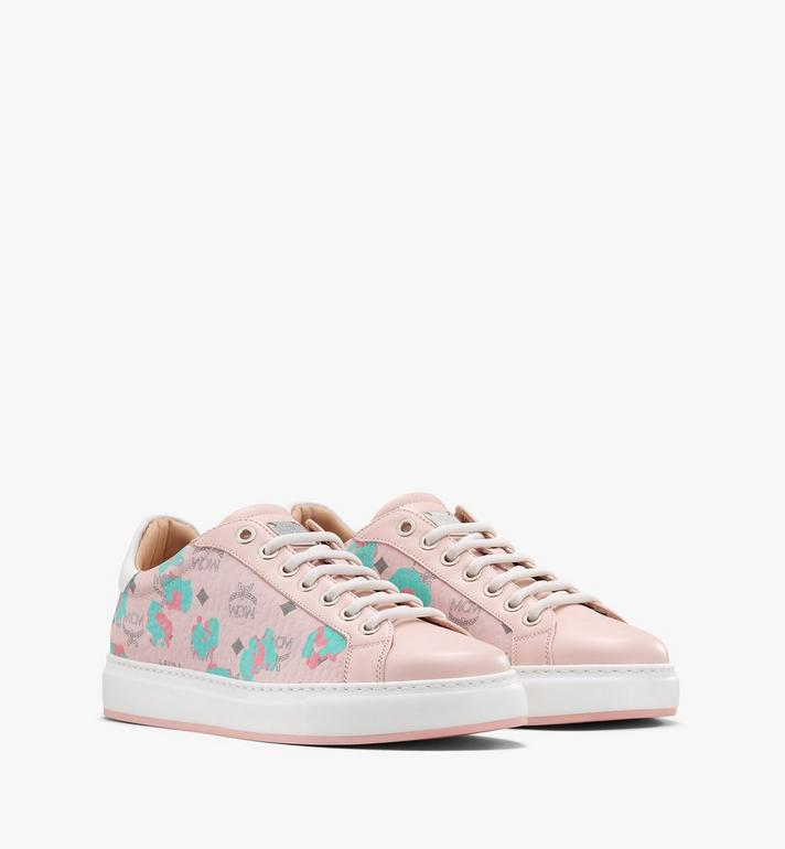 MCM Women's Low-Top Sneakers in Floral Leopard Alternate View
