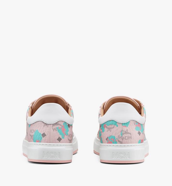 MCM Women's Low-Top Sneakers in Floral Leopard Pink MESASSE03QI036 Alternate View 3
