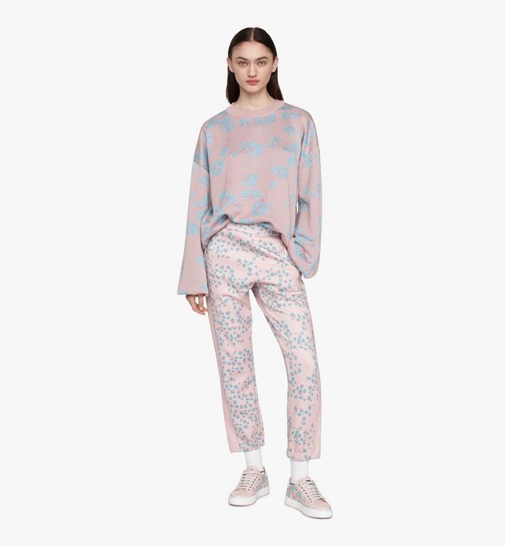 MCM Women's Low-Top Sneakers in Floral Leopard Pink MESASSE03QI037 Alternate View 6