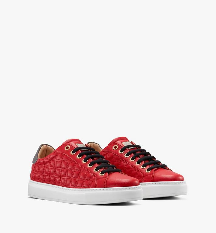 MCM Women's Classic Low-Top Sneakers in Quilted Leather Alternate View