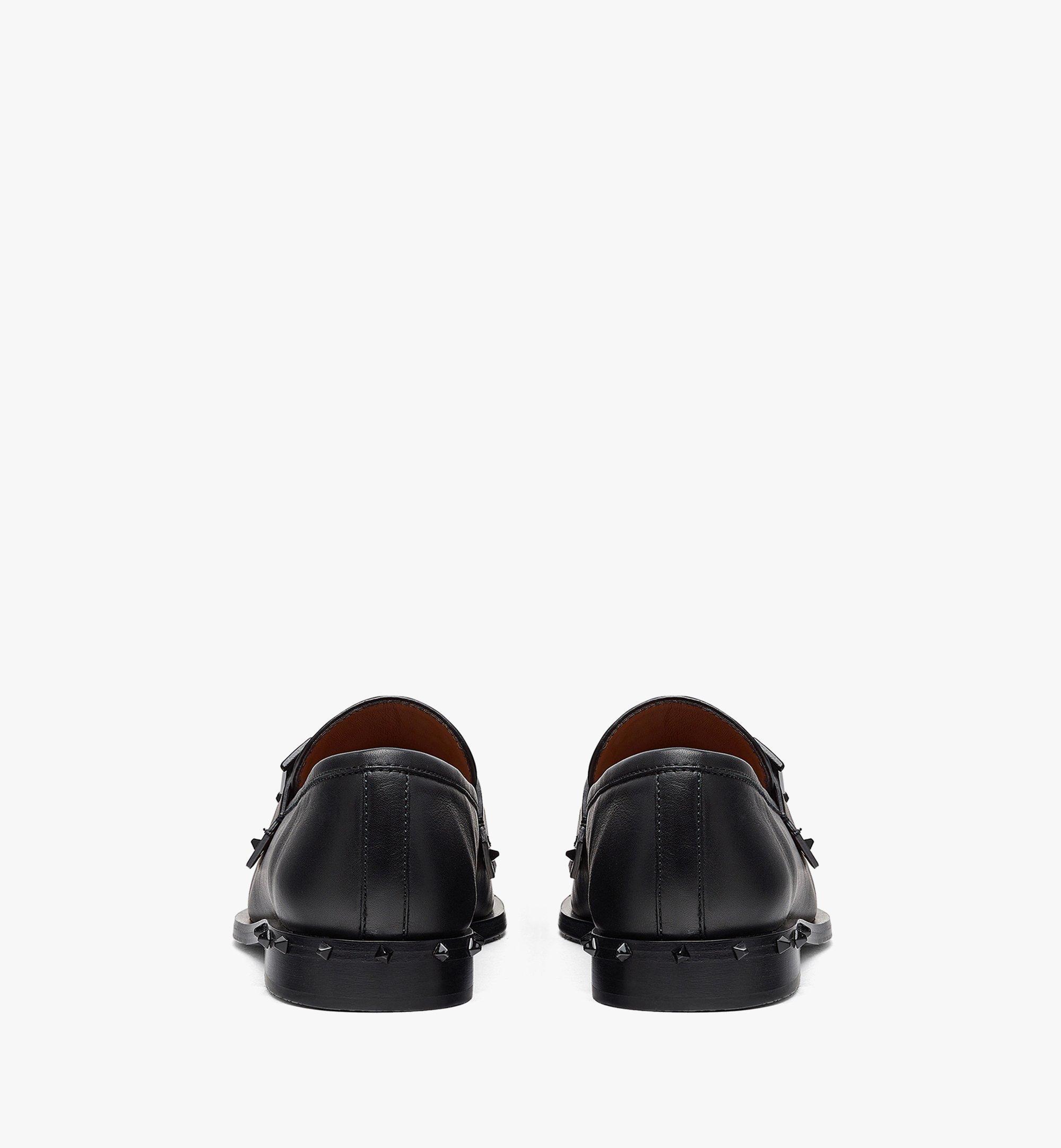 MCM Women's Mena Loafer in Calf Leather Black MESBALM01BK038 Alternate View 2