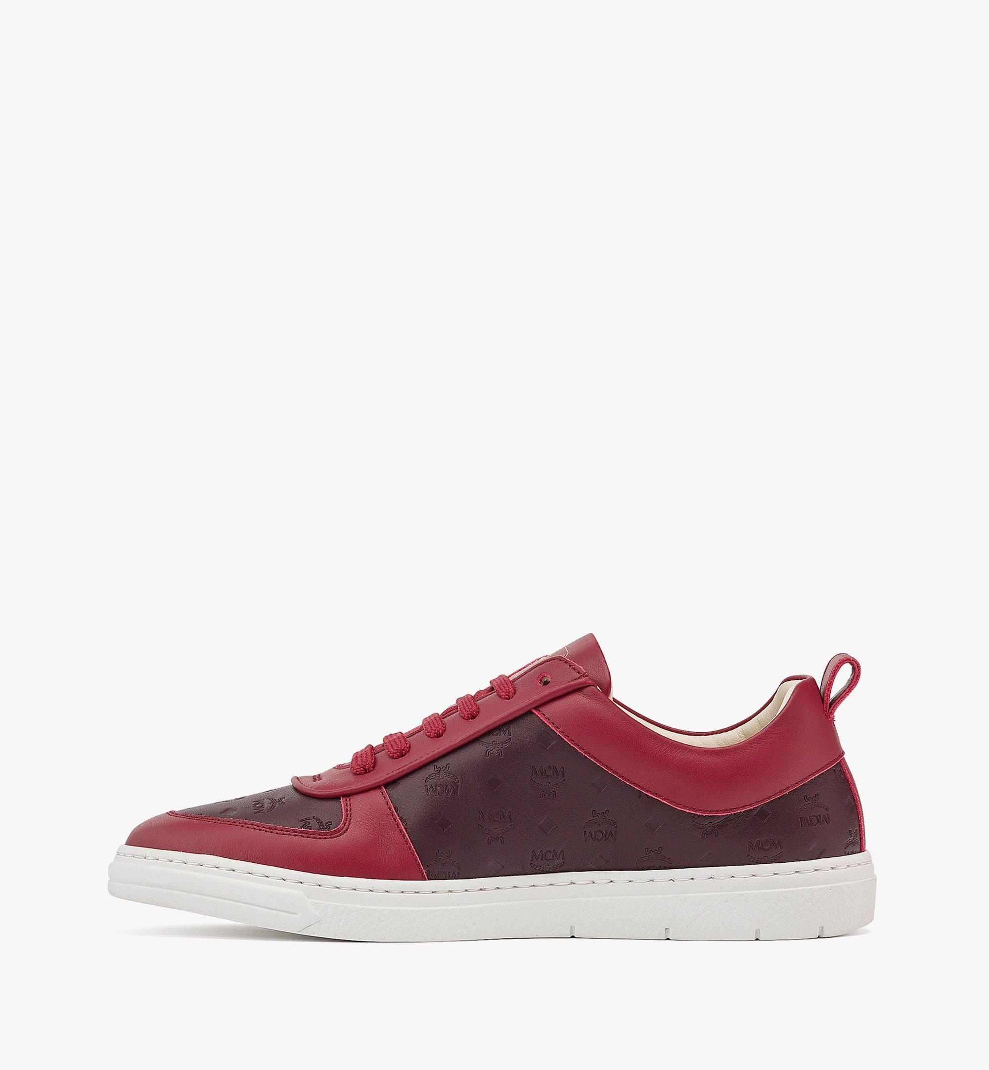 MCM Women's Sustainable Terrain Lo Sneakers in Monogram Leather Brown MESBAMM01N9036 Alternate View 1