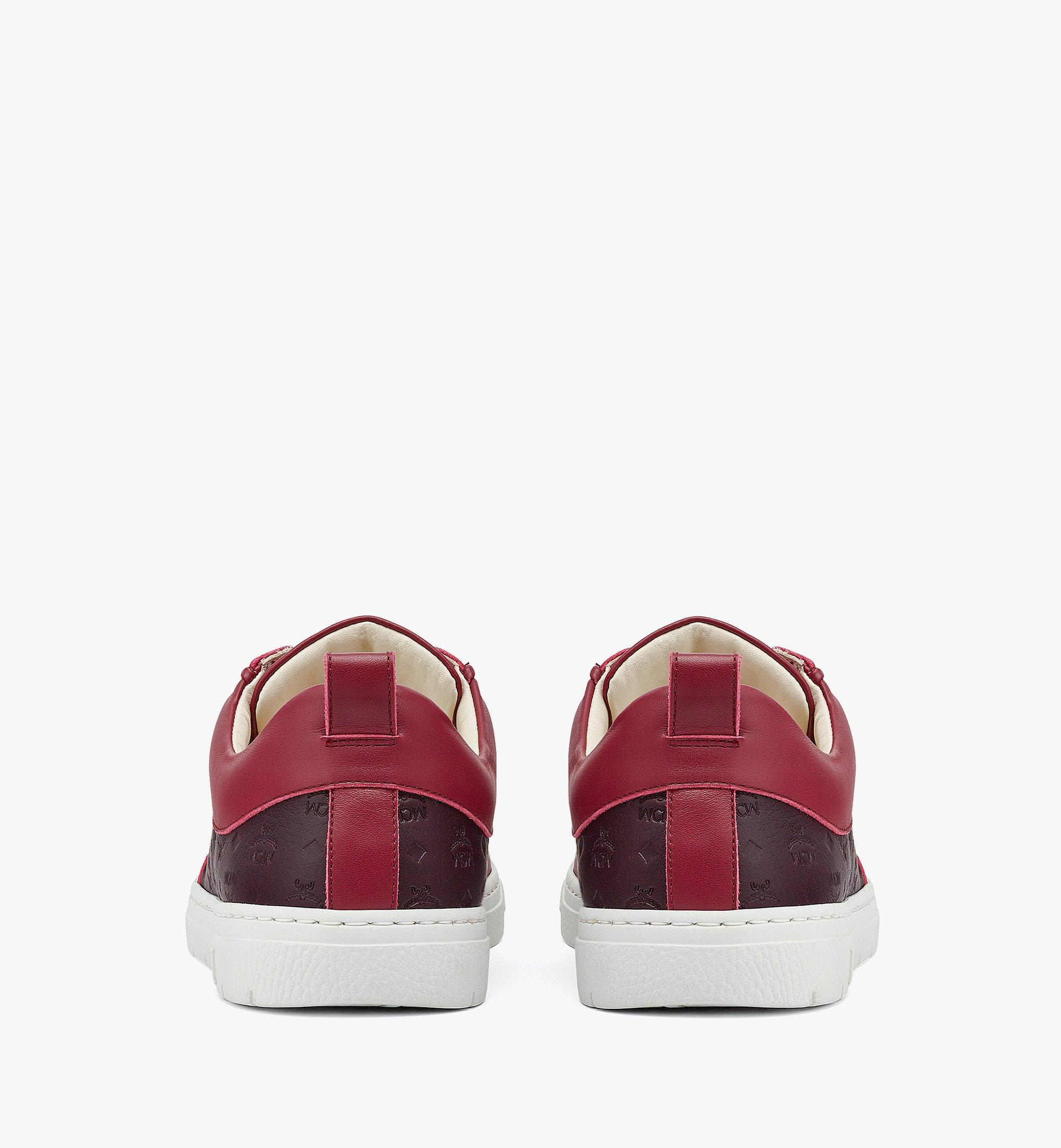 MCM Women's Sustainable Terrain Lo Sneakers in Monogram Leather Brown MESBAMM01N9036 Alternate View 2