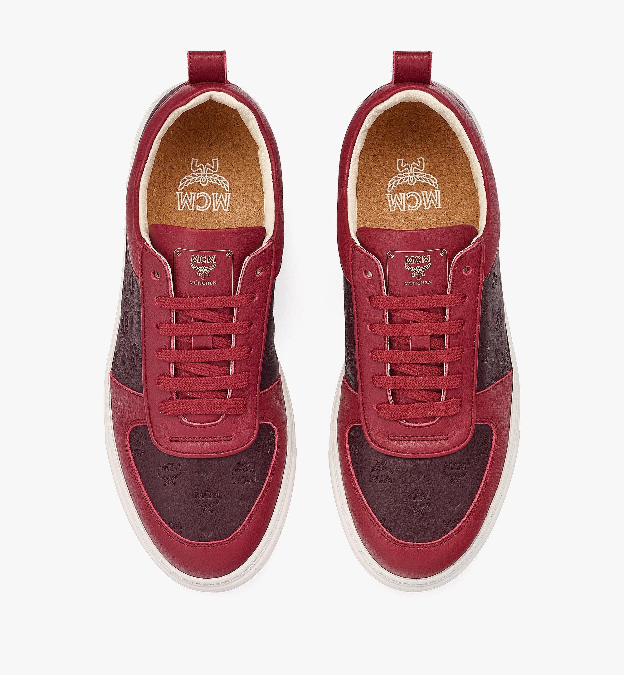 MCM Women's Sustainable Terrain Lo Sneakers in Monogram Leather Brown MESBAMM01N9036 Alternate View 4