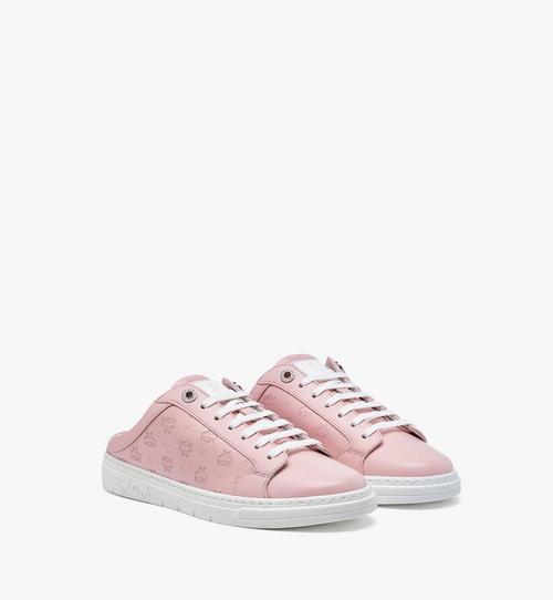 Terrain Low-Top-Sneaker in Kalbsleder mit Monogramm und offener Rückseite für Damen