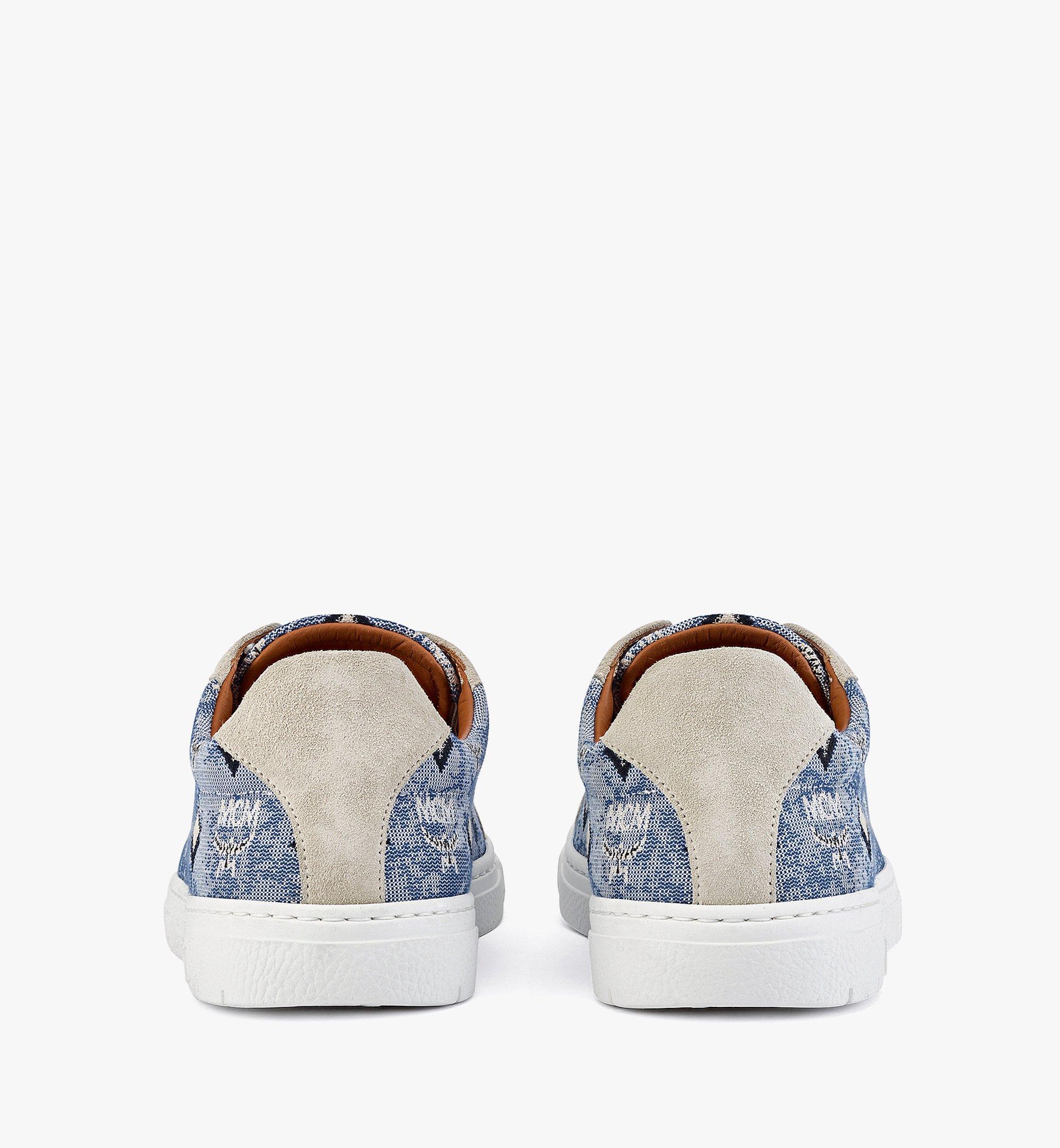 MCM Terrain Low-Top-Sneaker aus Vintage-Jacquard mit Monogramm für Damen Blue MESBATQ02LU037 Noch mehr sehen 2