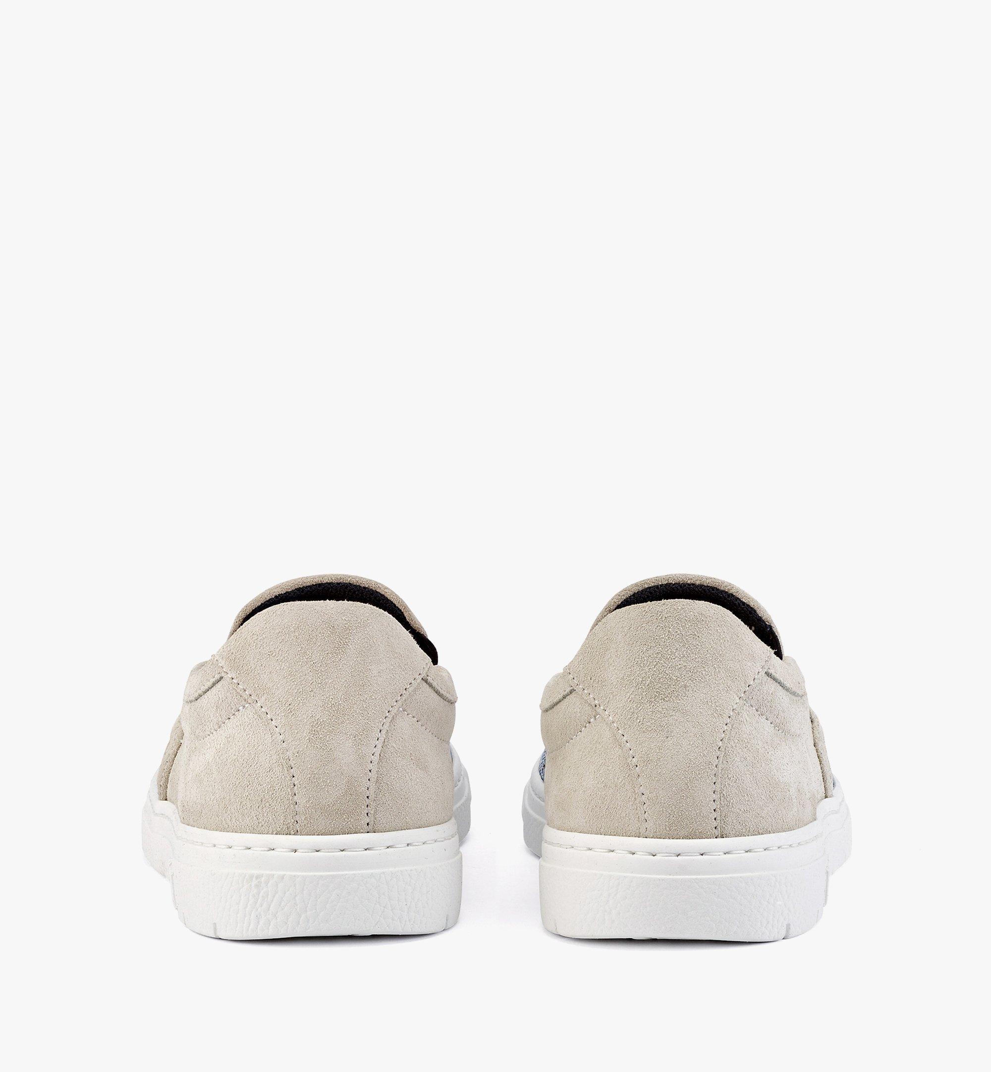 MCM Women's Slip-on Sneakers in Vintage Jacquard Monogram Blue MESBATQ05LU036 Alternate View 2