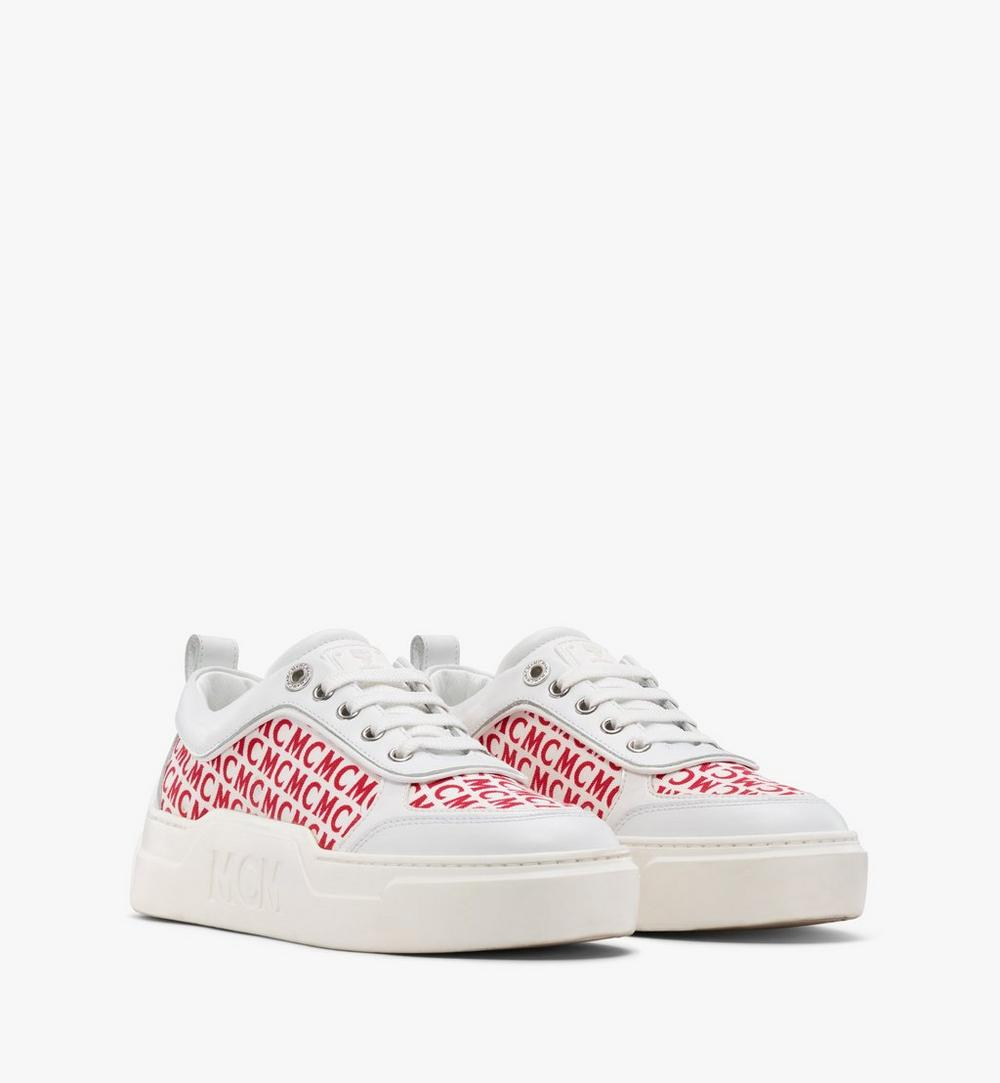 Women's Skyward Platform Sneakers in Diagonal Monogram Canvas 1