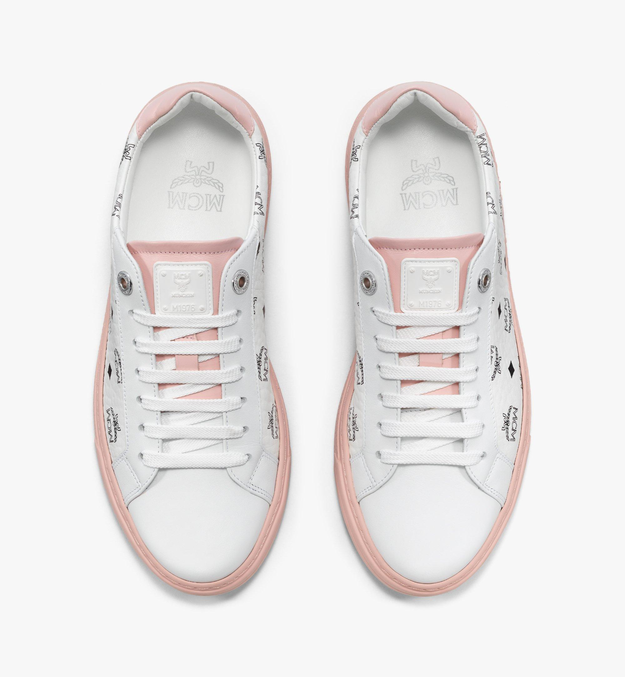 MCM Visetos 系列女士 Terrain 拼色低筒運動鞋 White MESBSMM07WB035 更多視圖 4