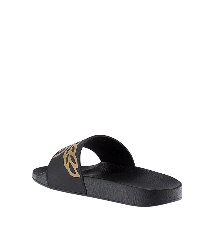 MCM Men's Rubber Slides MEX7AMM01BK041 AlternateView3