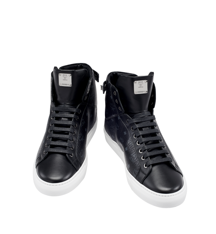 MCM Men's High Top Turnlock Sneakers in Visetos AlternateView4