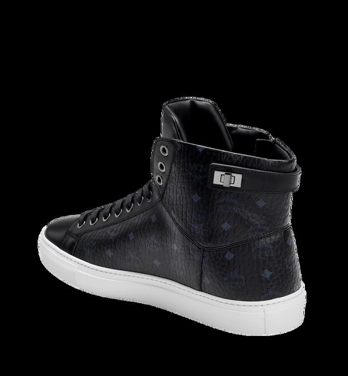 MCM Men's High Top Turnlock Sneakers in Visetos MEX7AMM02BK043 AlternateView2