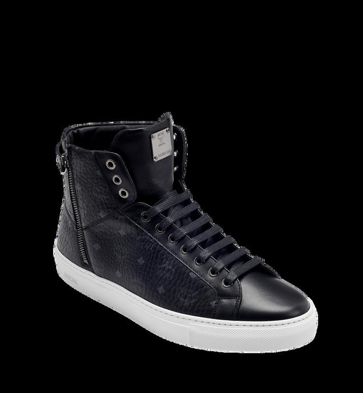 MCM Men's High Top Turnlock Sneakers in Visetos MEX7AMM02BK044 AlternateView