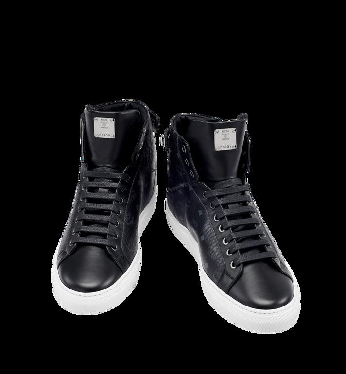 MCM Men's High Top Turnlock Sneakers in Visetos MEX7AMM02BK044 AlternateView4