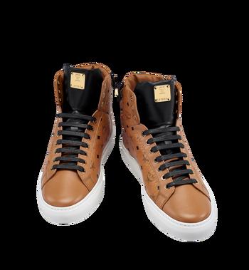 MCM Men's High Top Turnlock Sneakers in Visetos Alternate View 4
