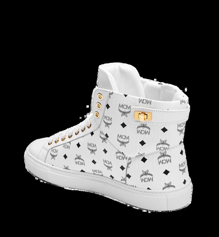 MCM Men's High Top Turnlock Sneakers in Visetos MEX7AMM02WT042 AlternateView2