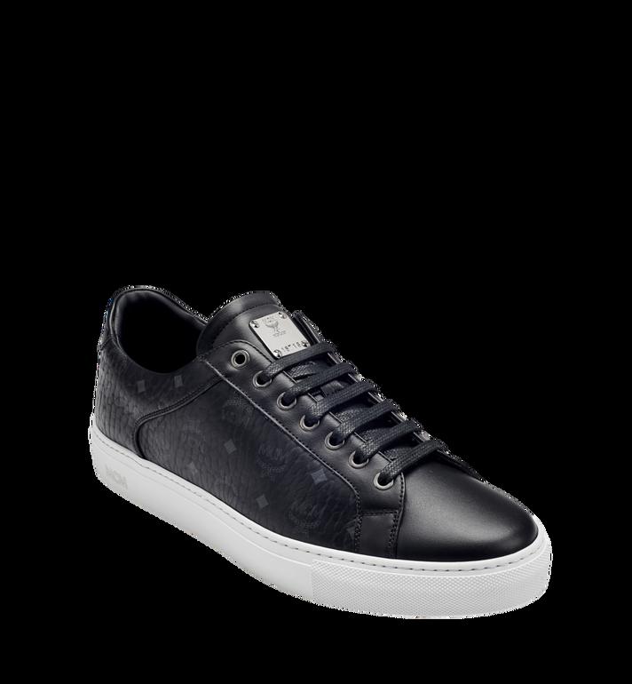MCM Men's Low Top Classic Sneakers in Visetos MEX7AMM04BK043 AlternateView