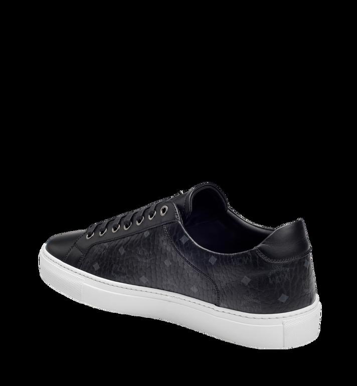 MCM Men's Low Top Classic Sneakers in Visetos MEX7AMM04BK043 AlternateView2