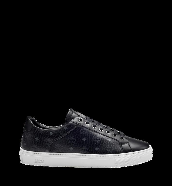 MCM Men's Low Top Classic Sneakers in Visetos MEX7AMM04BK043 AlternateView3