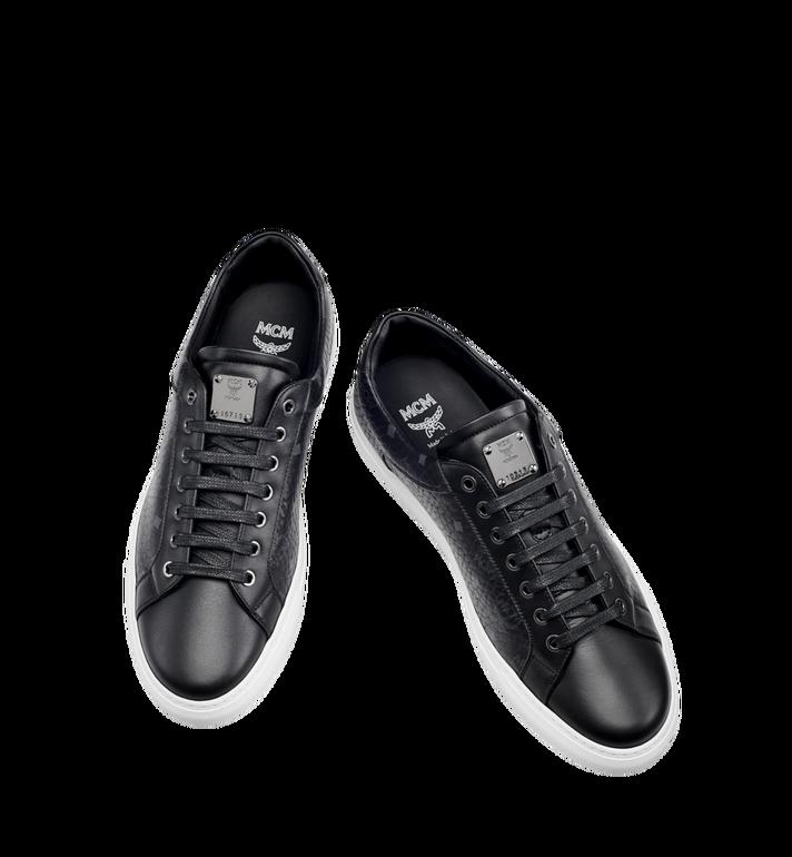 MCM Men's Low Top Classic Sneakers in Visetos MEX7AMM04BK043 AlternateView4