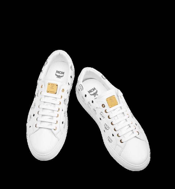 MCM Men's Low Top Classic Sneakers in Visetos MEX7AMM04WT041 AlternateView4