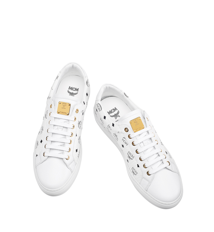 MCM Men's Low Top Classic Sneakers in Visetos MEX7AMM04WT045 AlternateView4