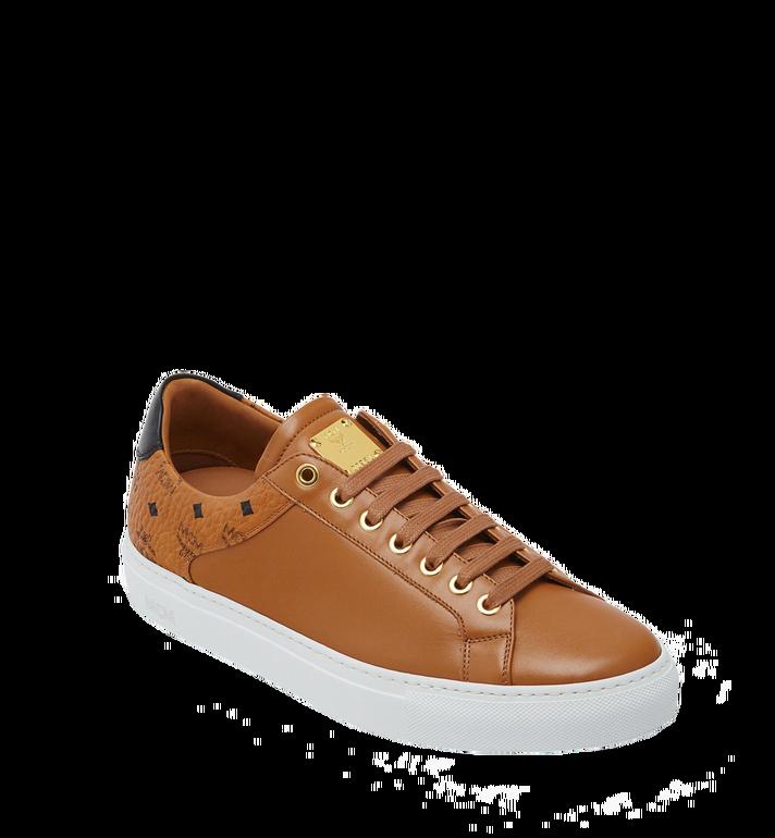 MCM Men's Low Top Classic Sneakers in Leather AlternateView