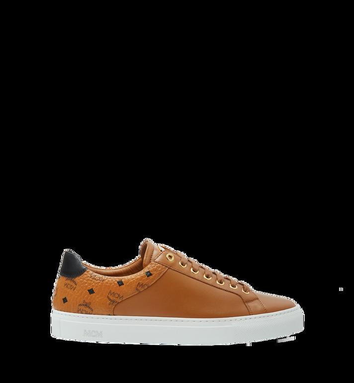 MCM Men's Low Top Classic Sneakers in Leather AlternateView3