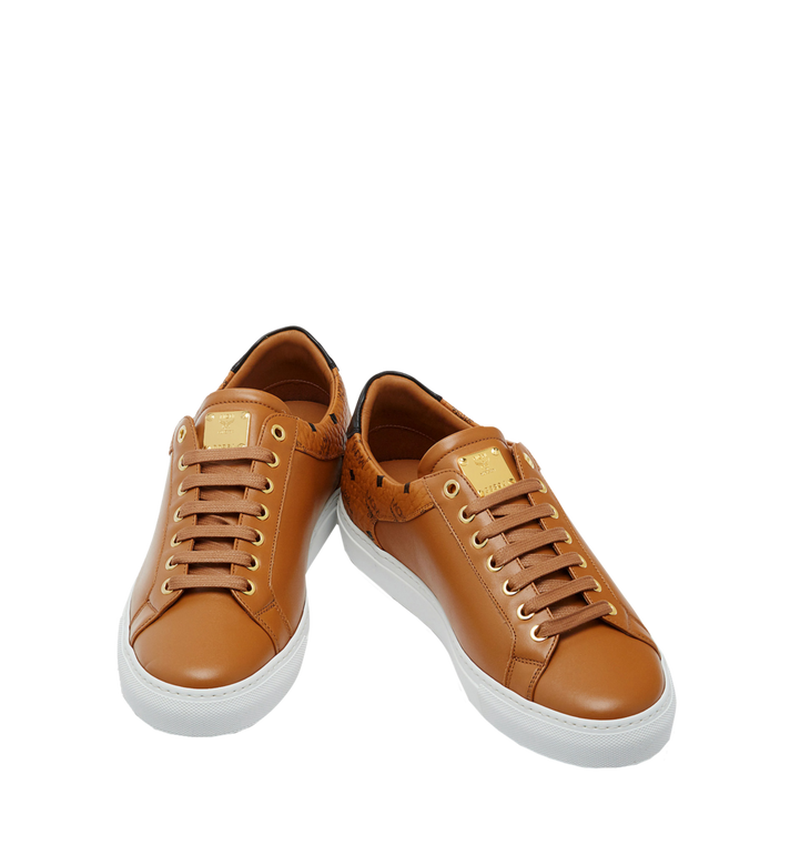 MCM Men's Low Top Classic Sneakers in Leather AlternateView4