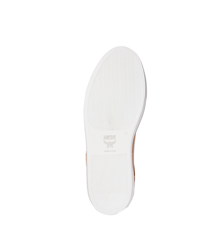 MCM Men's Low Top Classic Sneakers in Leather AlternateView5