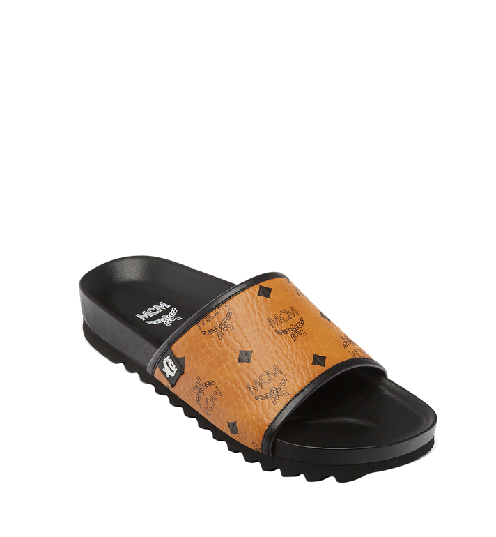 MCM Men's Visetos Slides MEX7S2K05CO042 AlternateView