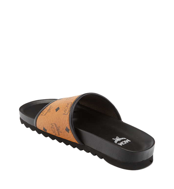 MCM Men's Visetos Slides MEX7S2K05CO043 AlternateView2