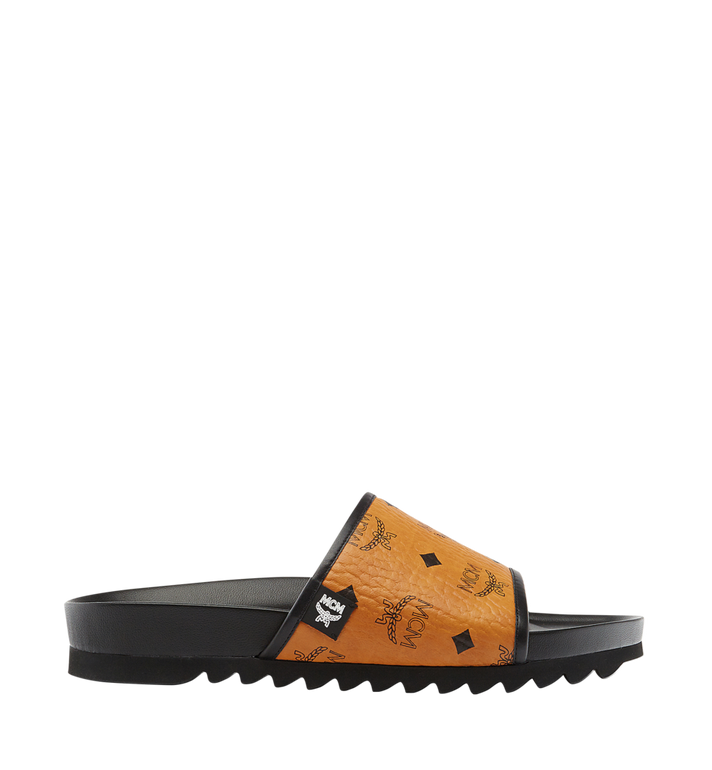 MCM Men's Visetos Slides MEX7S2K05CO043 AlternateView3