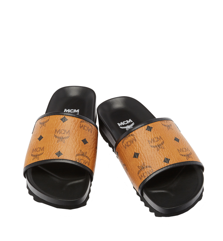 MCM Men's Visetos Slides MEX7S2K05CO044 AlternateView4