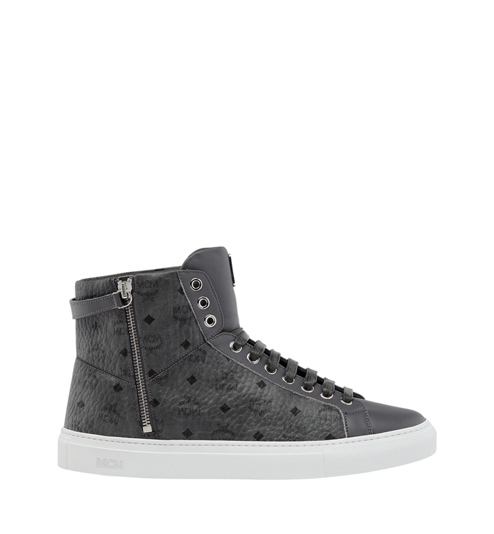 MCM Men's High Top Turnlock Sneakers in Visetos AlternateView2